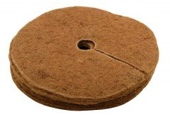 Coir Mulch mat weed control for plants 100% Biodegradable Round