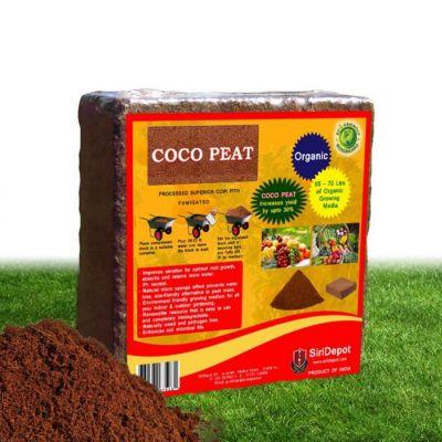 Coconut Coir Coco Peat block Makes Upto 70 litres Coconut Fibre Potting Soil Compost