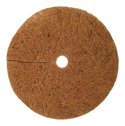 Coir Mulch mat weed control mat for pots and plants 100% Biodegradable 8 inch Round Pack of 5