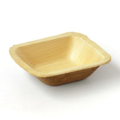 Areca leaf square Bowl12.8 cm, Eco - Friendly, 100% Natural, Bio-degradable