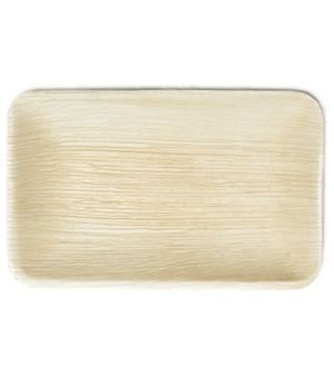 Areca Leaf rectangular plate, Eco - Friendly, 100% Natural, Bio-degradable