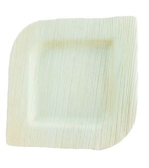Areca Leaf Square plate 12 cm, Eco - Friendly, 100% Natural, Bio-degradable